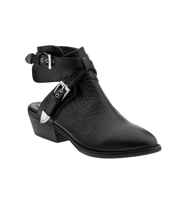 The Blonde Salad x Steve Madden Tmoscow Booties ($160) in Black Croco  This limited edition boot from fashion blogger Chiara Ferragni is a must-have!