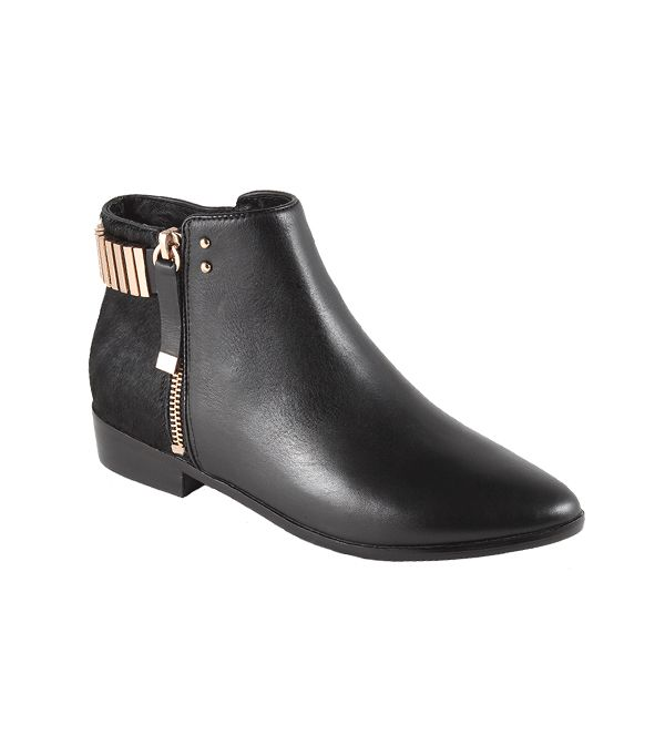 Yosi Samra Kate Ponyhair with Belt Straps ($191) in Black  Think of this pair as your go-to black ankle boots, but with a bit of glam.