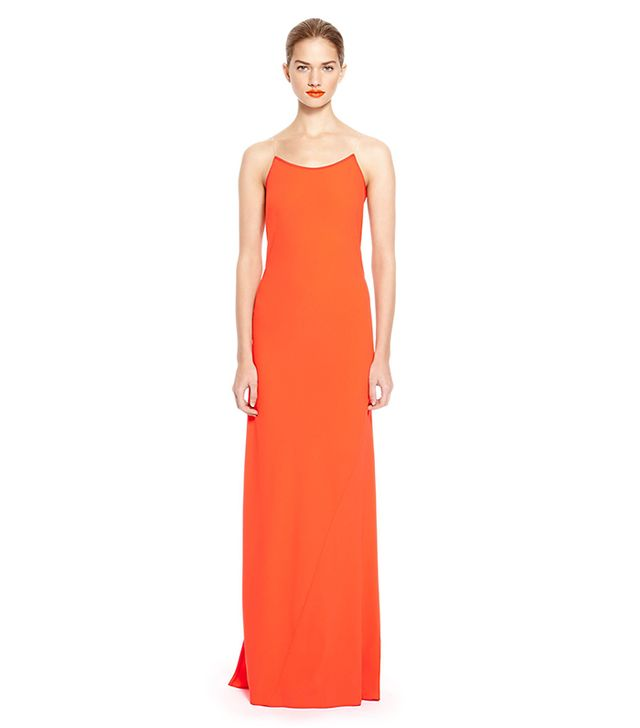 DKNY Illusion V-back Crepe Maxi Dress ($495)