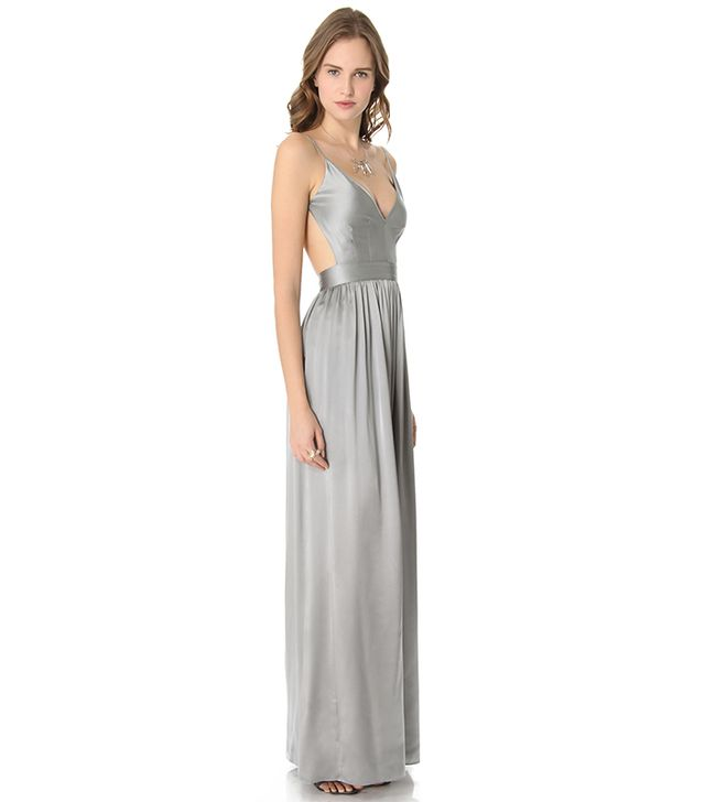 ONE by Contrarian Babs Bibb Maxi Dress ($425) in Silver