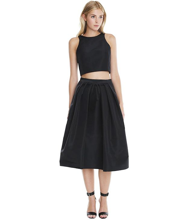 Tibi Silk Faille Cropped Top ($298) and Silk Faille Full Skirt ($525)