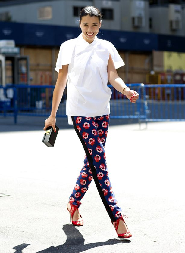 Tip of the Day: Floral-Print Trousers
