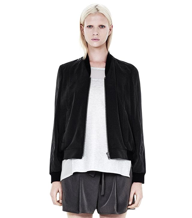 Helmut Lang Terra Bomber Jacket ($345) in Black