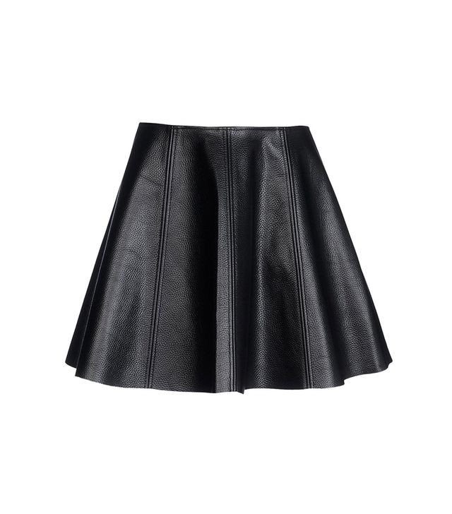 Opening Ceremony Leather Skirt ($450) in Black