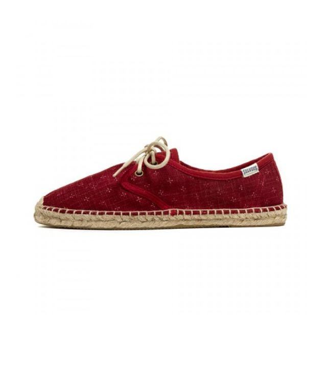 Soludos Lil Crosses Derby Espadrille ($65) in Red