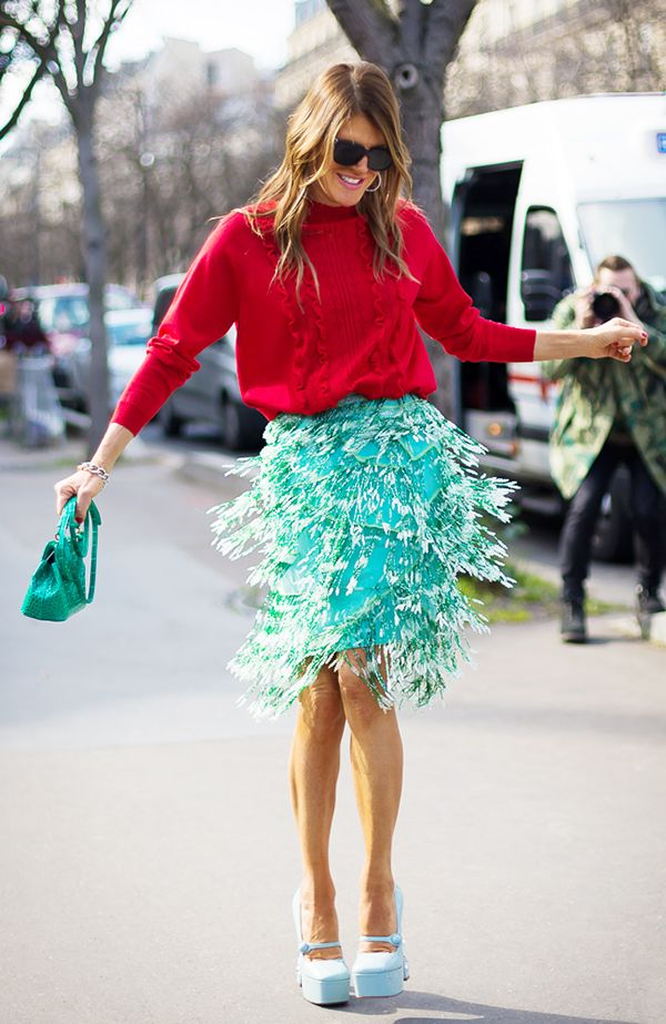 Add a charming green skirt to your spring wardrobe!  