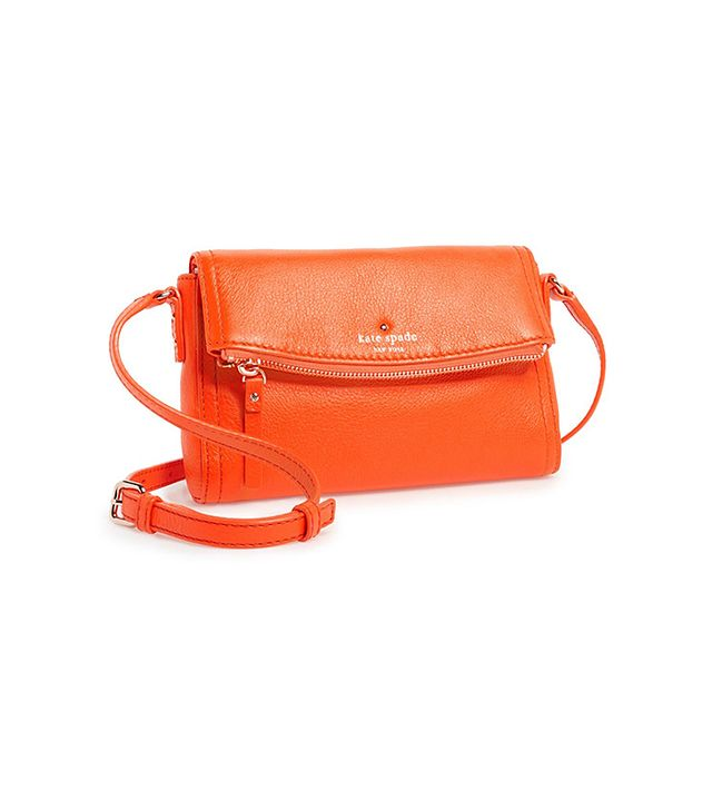 Wear this cross-body bag to instantly brighten any outfit!  Kate Spade Cobble Hill Mini Carson Crossbody Bag ($198) in Ablaze