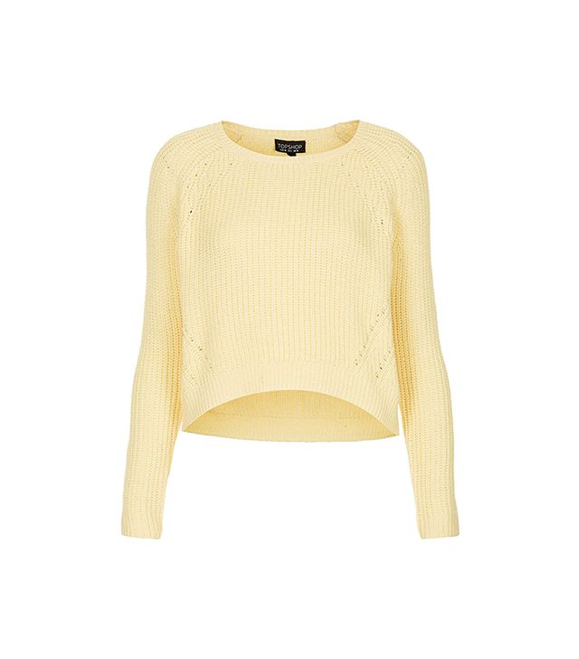 Layer this knit over a casual sundress for a cool and cozy look. 