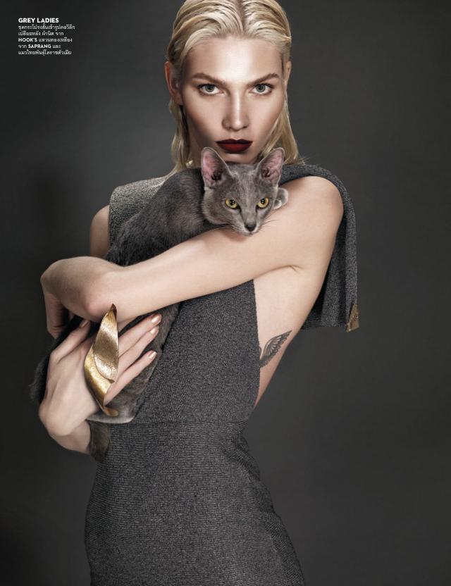 Aline Weber Gets Cat-y for Vogue Thailand