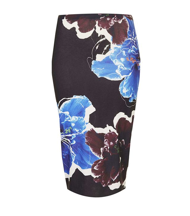Topshop Floral Placement Tube Skirt ($40)