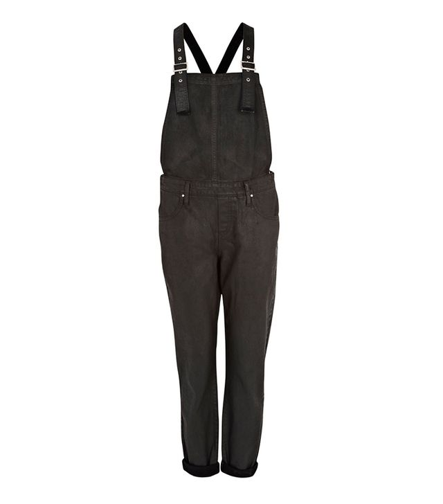 River Island Black Coated Overalls ($30)
