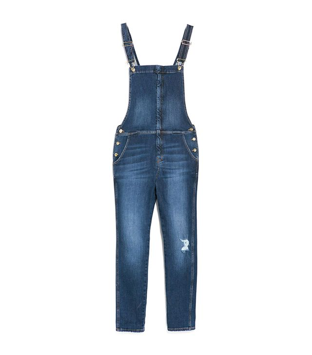 Mango Dark Denim Dungarees ($90)