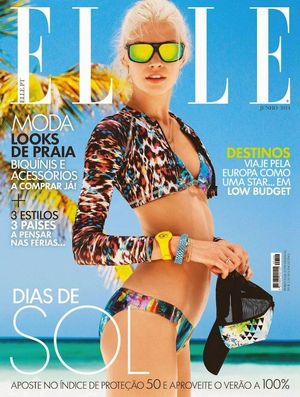 Technicolor Beach Style Inspiration From ELLE Portugal