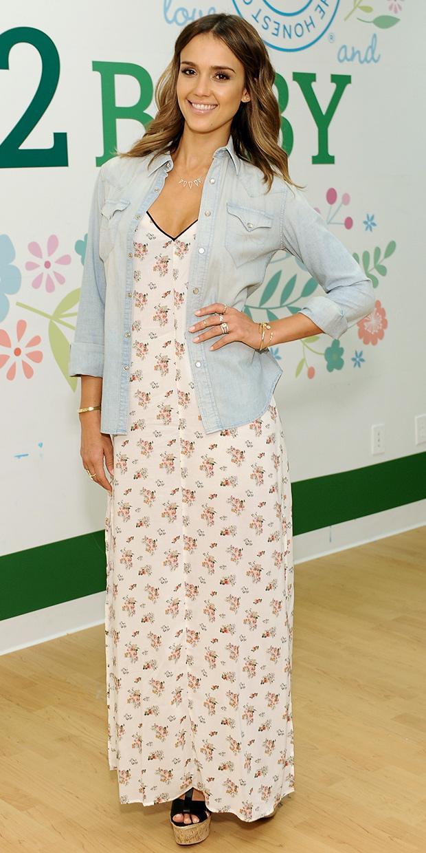 Jessica Alba's Summer-Ready Maxi Dress