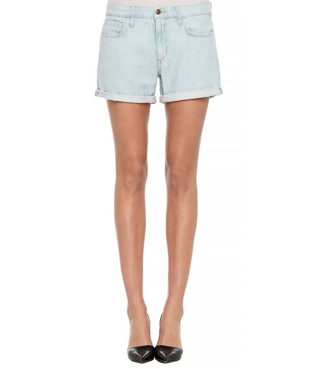 Rolled Denim Shorts 