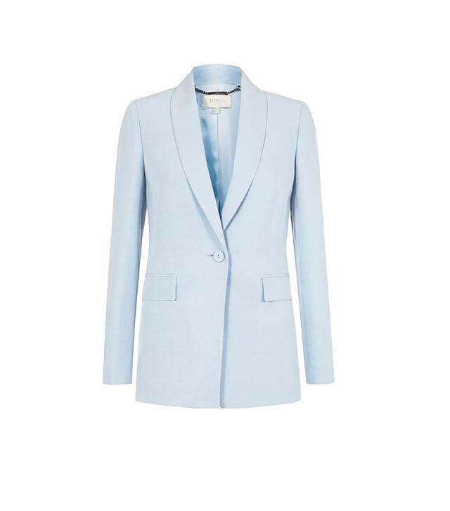 Hobbs Sarah Jacket ($242) in Pastel Blue