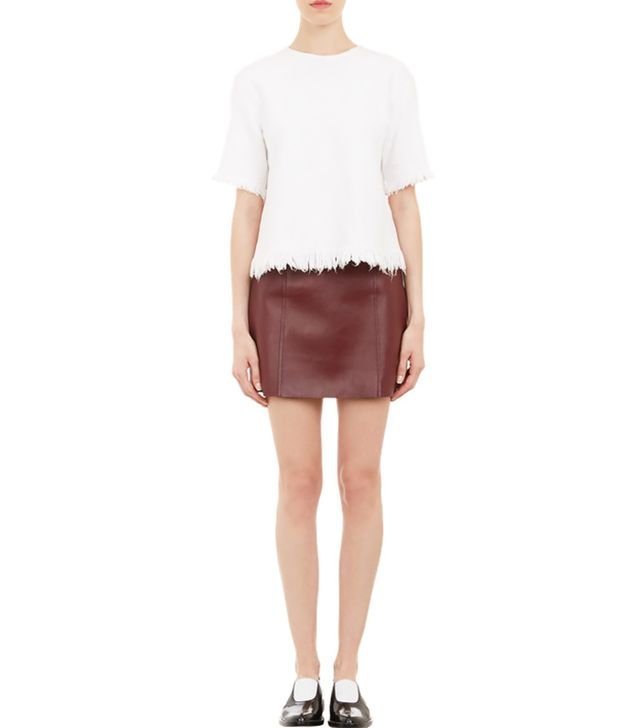 T By Alexander Wang Frayed Swing Top ($325) in White