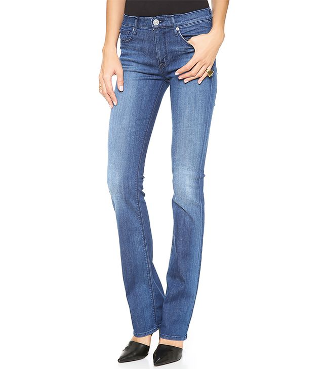 Hudson Elle Mid Rise Baby Boot Cut Jeans ($132) in Stepping Stone