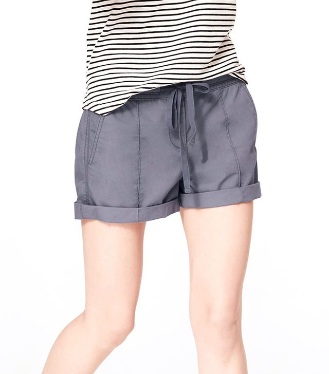 Lou & Grey Washed Poplin Shorts ($40)  These relaxed-fit shorts are perfect for pairing with polished separates, like a button-down shirt and lace-up flats.