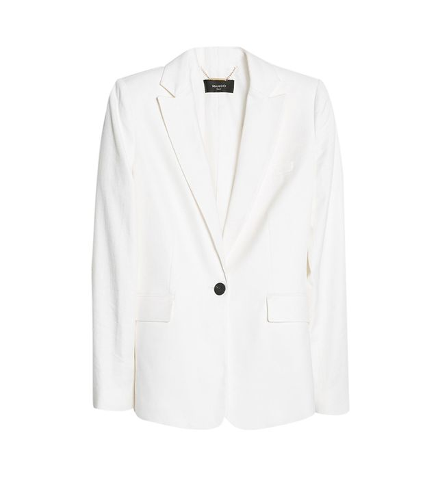 Mango Textured Linen-Blend Blazer ($120)  A Jagger-inspired suit for less than $200 is a steal, if you ask us.