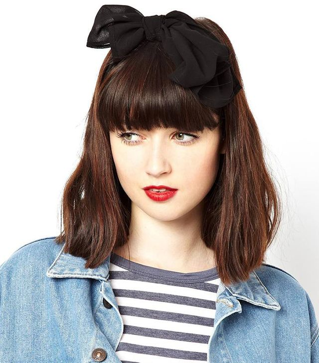ASOS Plain Headscarf ($10)  An oversized black sash is endearing when tied in a bow.