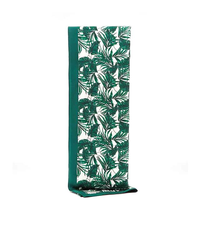 Reiss Miami Palm Print Silk Scarf ($150)