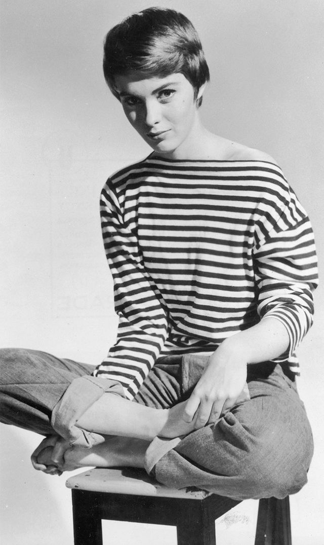 Jean Seberg  If you've ever wondered what the perfect way to wear a striped shirt is, here you go. The key to pulling off a Seberg-inspired striped shirt ensemble is in the details: Let...