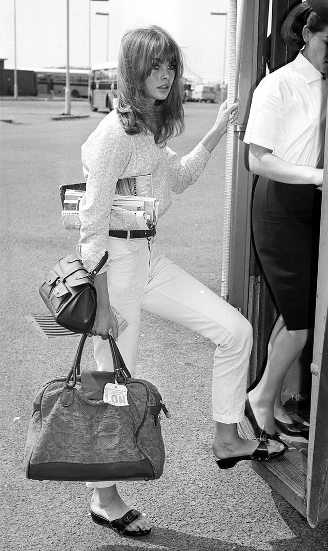 Jean Shrimpton  An English model and actress, and most notably, an icon of Swinging London, Shrimpton's style and beauty are still praised. This chic ensemble you're looking at?...