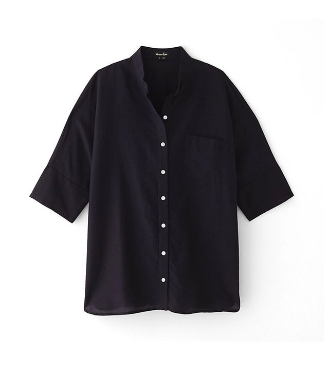 Steven Alan Oversized Stand Collar Shirt ($215)  This is one of those shirts you'll realize you wear every week, some way or another.