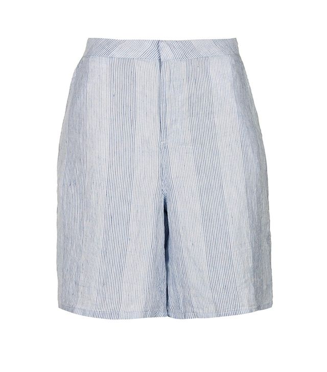 Topshop Moto Linen Striped Culottes ($64)