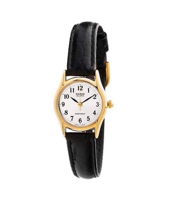Casio Analog Watch ($40)  We adore this supremely versatile timepiece.