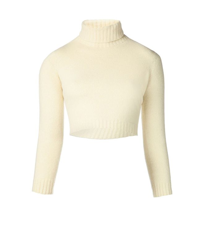 The Row Nenette Cropped Sweater ($690)  A cream, cropped turtleneck is undeniably stylish.