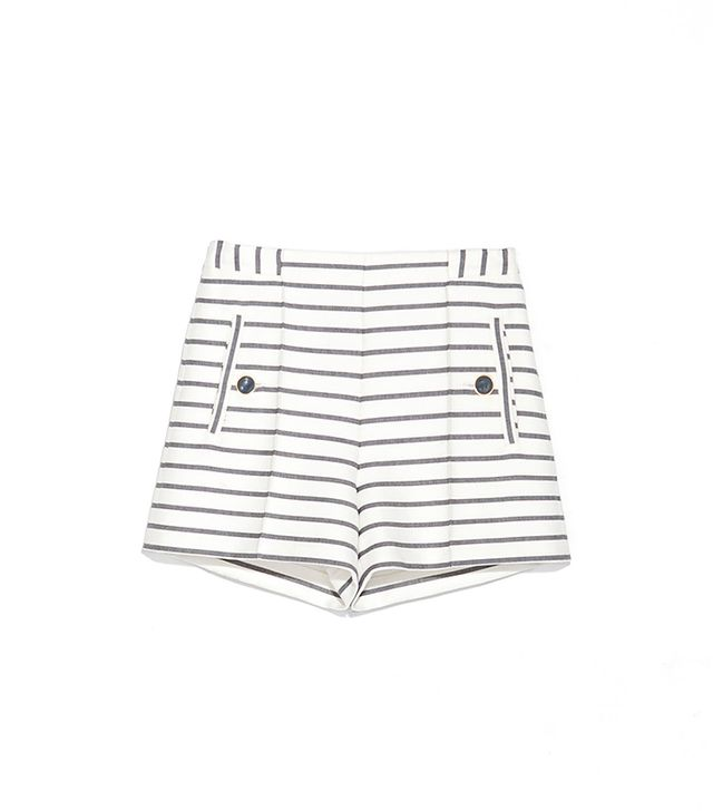 Zara Striped Shorts ($50)  High-waisted shorts are as flattering as they are feminine.