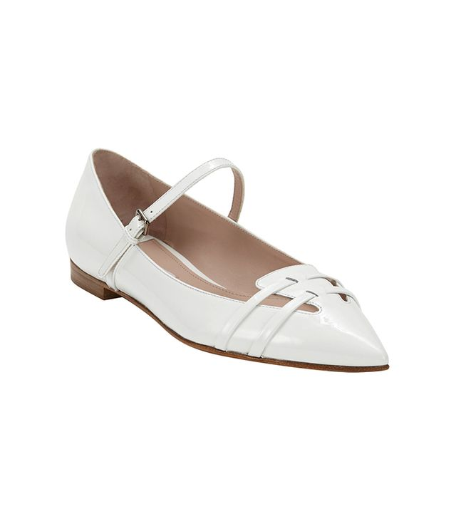 Miu Miu Patent Leather Flat Mary Janes ($550)  C'mon, these are adorable.
