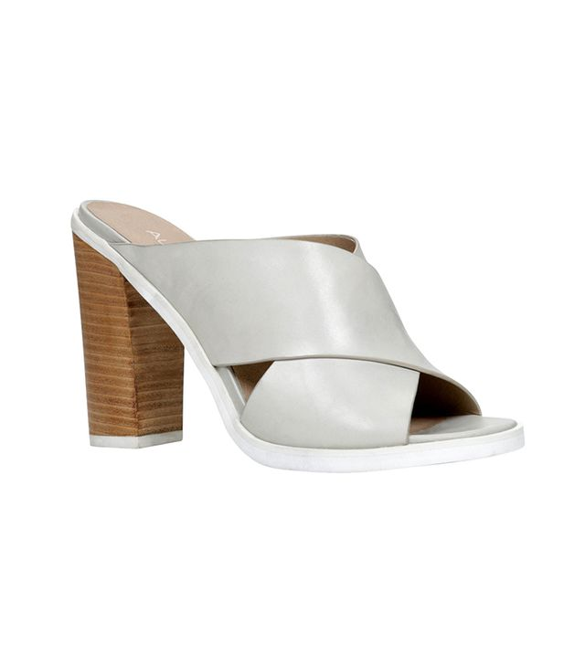 Aldo Rathburn Mules ($90) in Light Gray