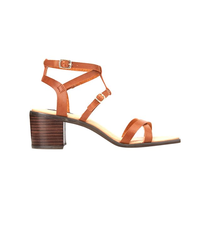 Forever 21 Favorite Chunky Sandals ($33) in Brown