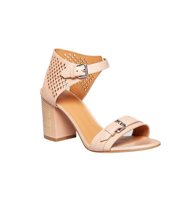 Marc by Marc Jacobs Block Heel Ankle Strap Sandals ($328) in Tan