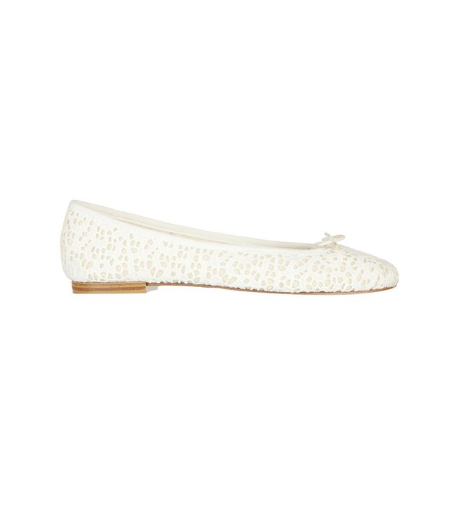 Repetto The Cendrillon Crocheted Lace Ballet Flats ($385)