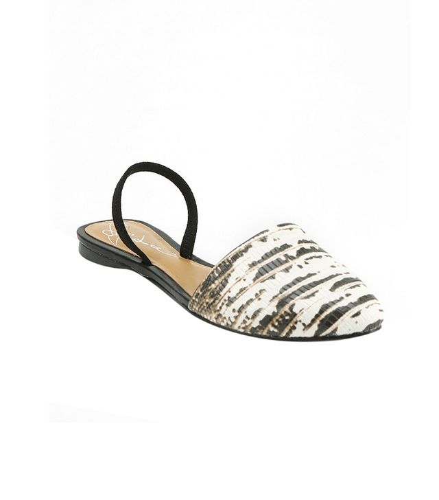 Report Signature Sunburst Flats ($60) in Black & White