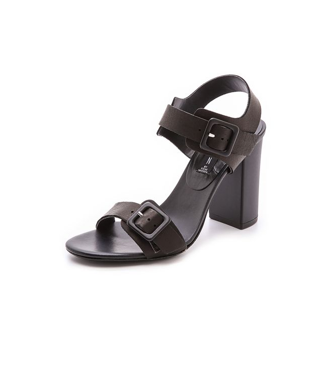 Steven Sag Harbor Sandals ($129) in Black