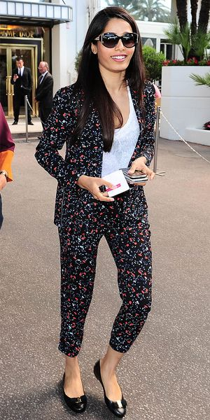 Freida Pinto In The Perfect Low-Key Weekend Suit
