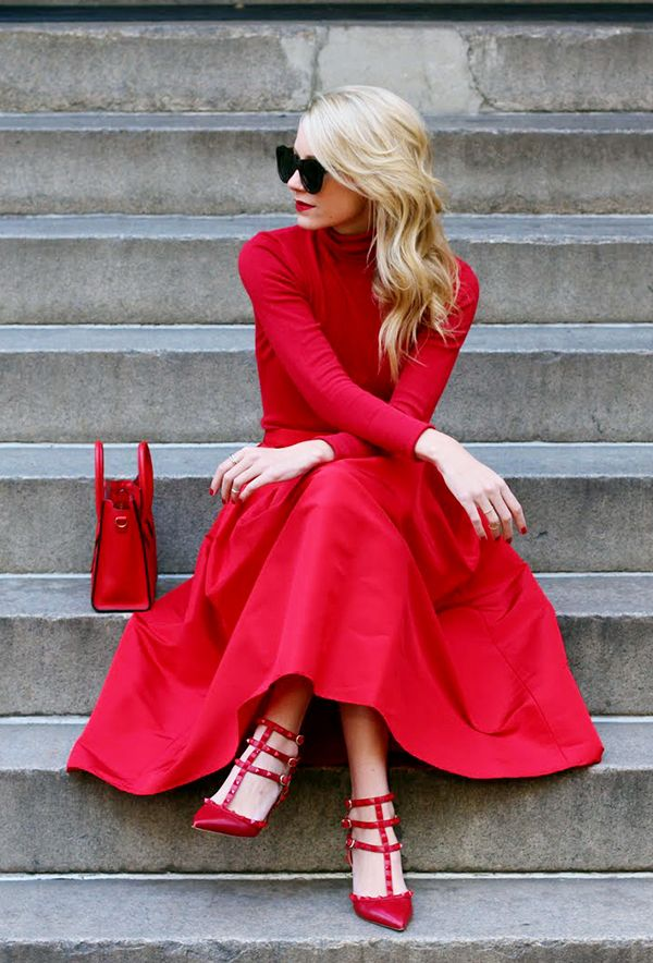 Head-to-toe red never disappoints.