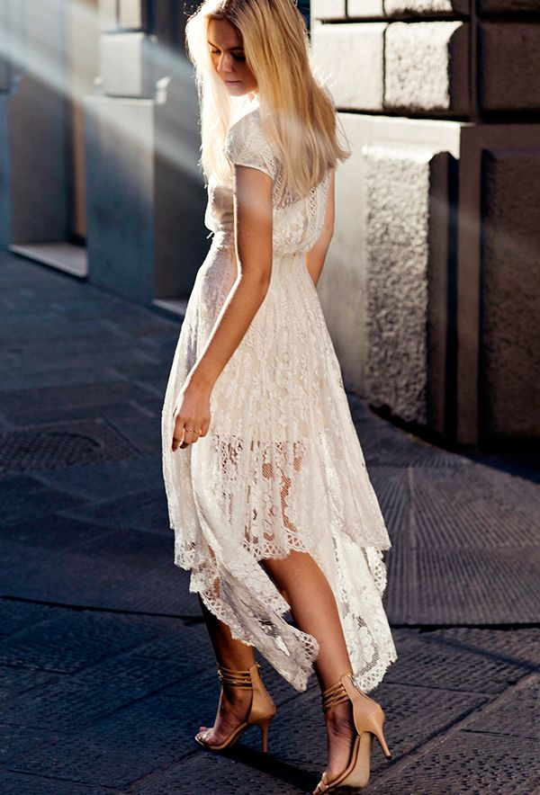 Ethereal white lace never looked dreamier.