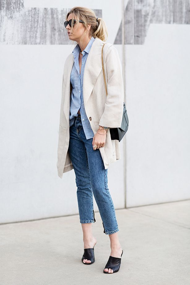 Oversized Jacket + Cropped Jeans