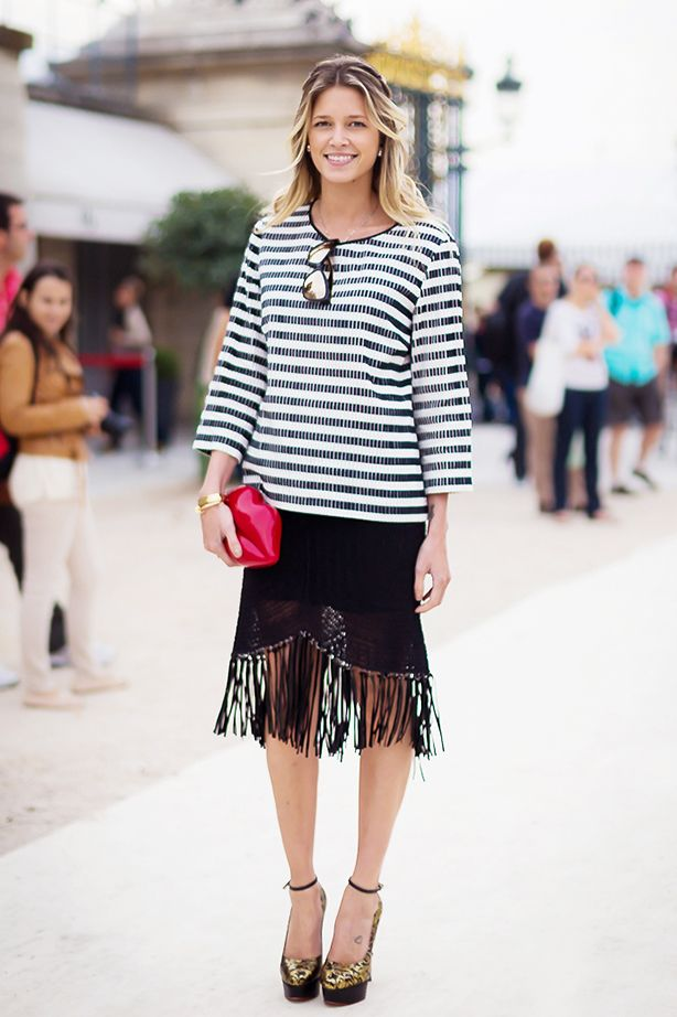 Striped Top + Statement Skirt