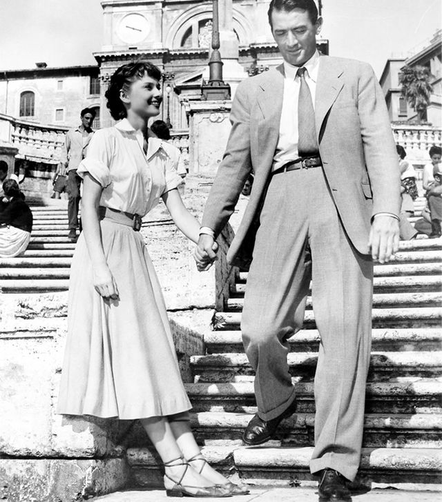 2. Midi Skirt + Strappy Sandals We found your new summer uniform, courtesy of Hepburn in Roman Holiday.