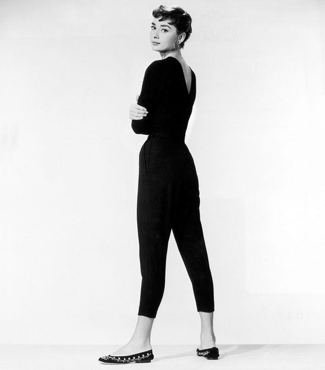 7. Cropped Trousers + Ballet Flats Steal this Hepburn style trick: add interest to a basic outfit with a pair of embroidered ballet flats.
