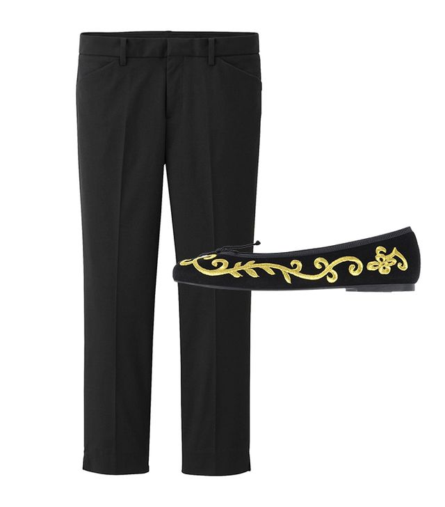 Get The Look:  Uniqlo Stretch Cropped Pants ($40) Pretty Ballerinas Ballet Flats ($152)