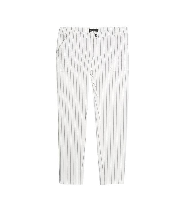 Get The Look:  Mango Chalk-Stripe Trousers ($50)