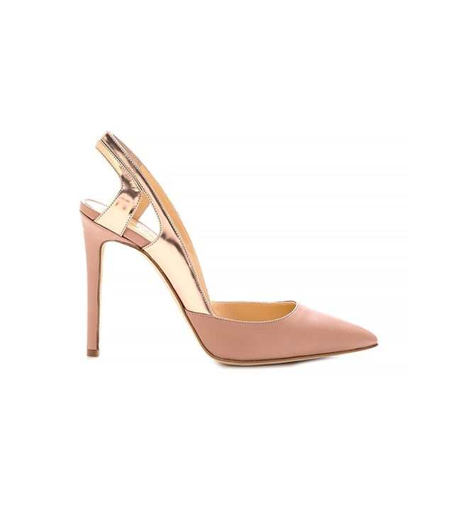 Alejandro Ingelmo Frederica Pointed Toe Pumps ($745) in Nude/Rose Gold